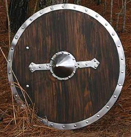 Wooden Viking Shield Buckler 29""
