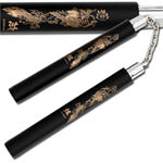 Laser Dragon Black Martial Arts Nunchaku 12""