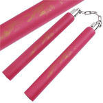 Red Dragon Foam Padded practice Martial Arts Training Nunchaku