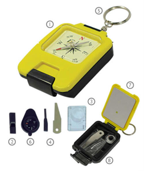 8 in 1 Survival Compass Kit CC5576