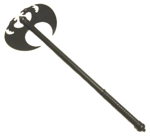 Extreme Medievel Black Double Bladed Battle Axe 27""