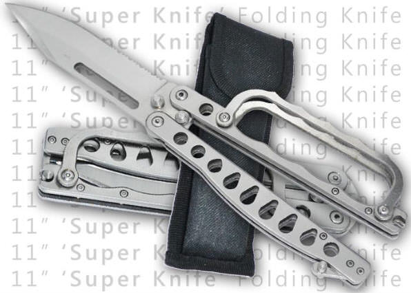 ALL Stainless Folding Trench Knife & Case