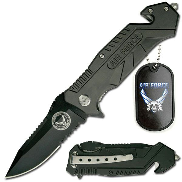 AO Air Force Rescue Knife & Dog Tag YC501AF
