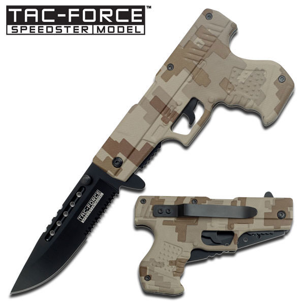 AO Digital Desert Camo Pistol Handle Knife TF756DM