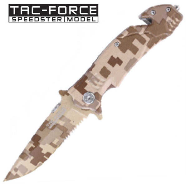 AO Digital Desert Camo Rescue Knife YC515DM