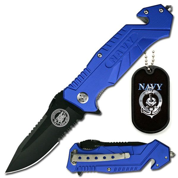 AO Navy Rescue Knife & Dog Tag YC501N