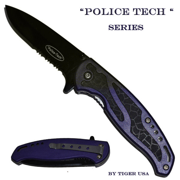AO Purple Police Tech Pocket knife K144