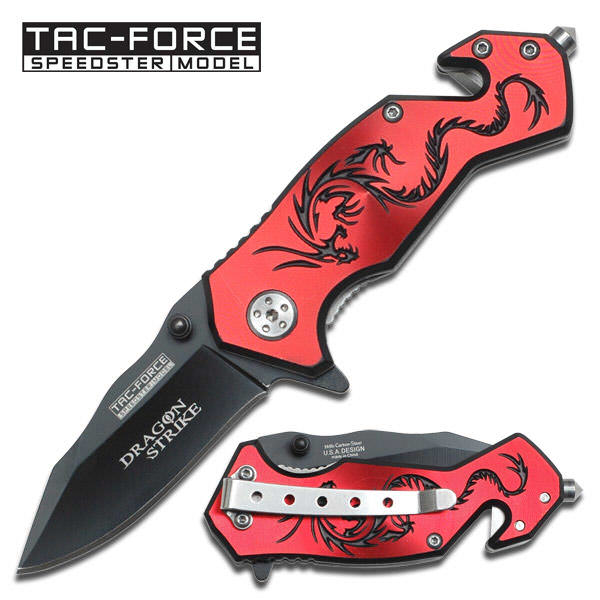 AO Red Dragon Rescue Knife TF686RB