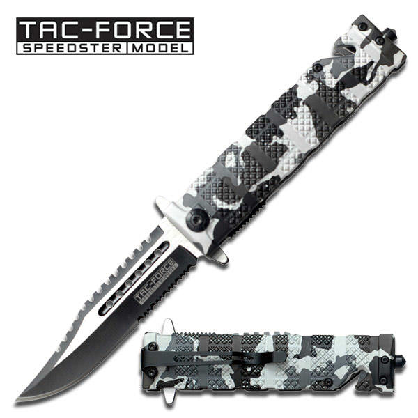 AO Snow Camo Tac-Force Rescue Knife TF710DW