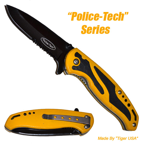 AO Yellow Police Tech Pocket knife K143