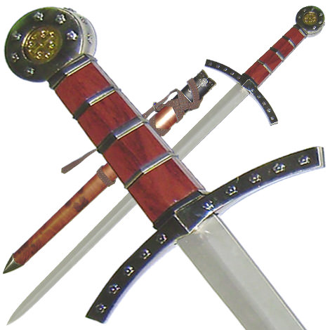 Crusader Knights Of Templar Short Sword Dagger and Scabbard 22 1/2&quot;