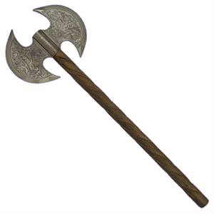 Azan Axe Double Bladed Dwarven Battle 25""