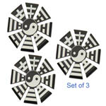 Azan Dark Yin Yang Shinobi Throwing Star Set of 4