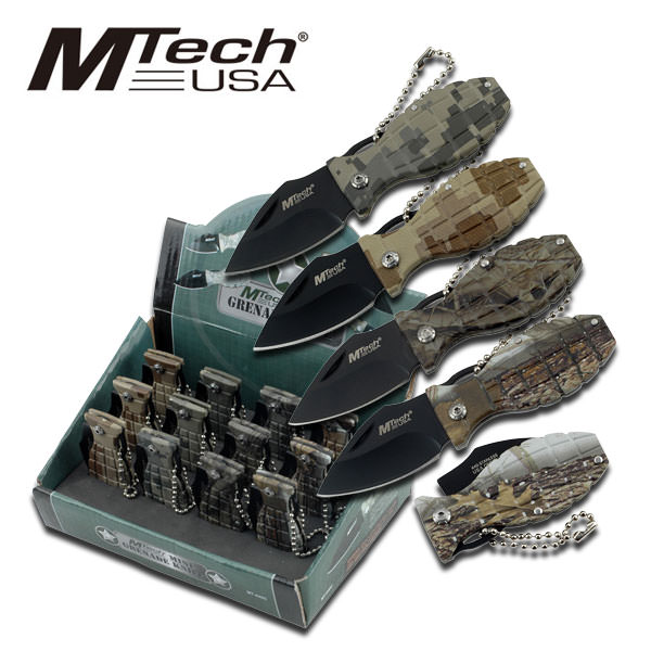 All Metal Camo Grenade Pocket knives MT440CA