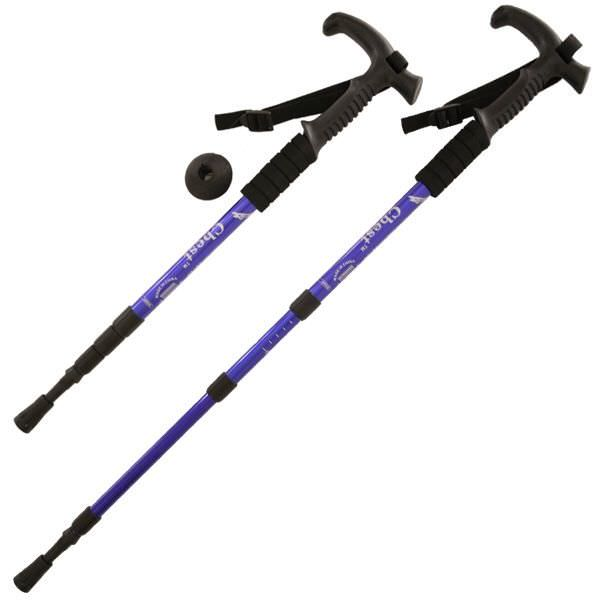 Aluminum Adjustable Hiking Cane DL23700BL