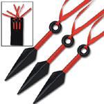 Naruto Anime Red Kunai Warrior Set 5.25&quot;