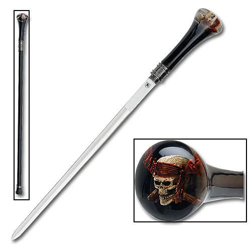 Raging Skull Sword Cane 34&quot;