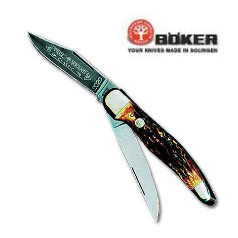 Boker Stag Hunter Lockback Folding Knife 5 1/4""