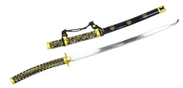 Beautiful Black Ceremonial Tachi Sword K0044-1bk
