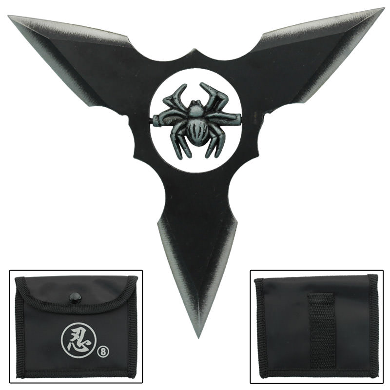 Black Widow Three-Point Spiked Shuriken
