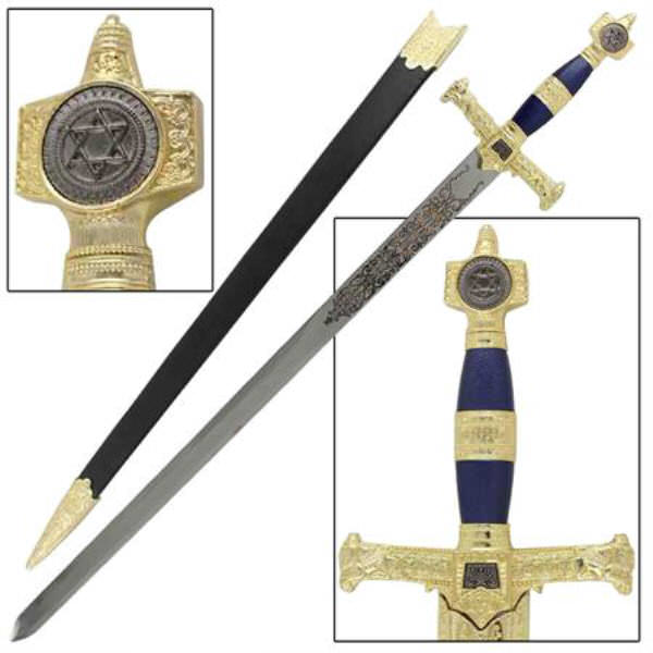 Blue & Gold King Solomon Sword WG892
