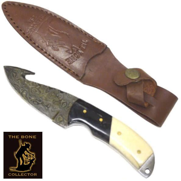 Bone Collector DAMASCUS Gut Hook skinner BC821