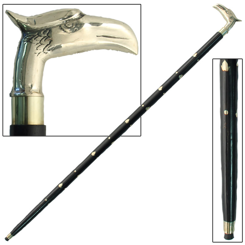 Brass Eagle Head Sheesham Cane