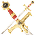 Red & Gold King Solomon Heavey Weight Sword 47 1/4""