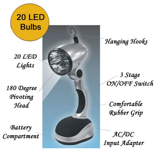 20 Bulb Led Table Lamp FL89020L