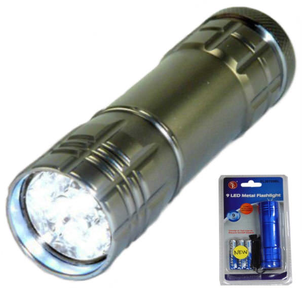 High Tech Premium Quality 9 LED Flashlight FL30709T