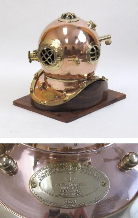 German Navy 'Heinke' Divers diving Helmet 19""