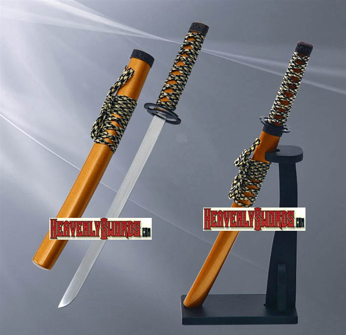 Gold Musashi Warrior Samurai Katana Sword Letter Opener With Stand 12""