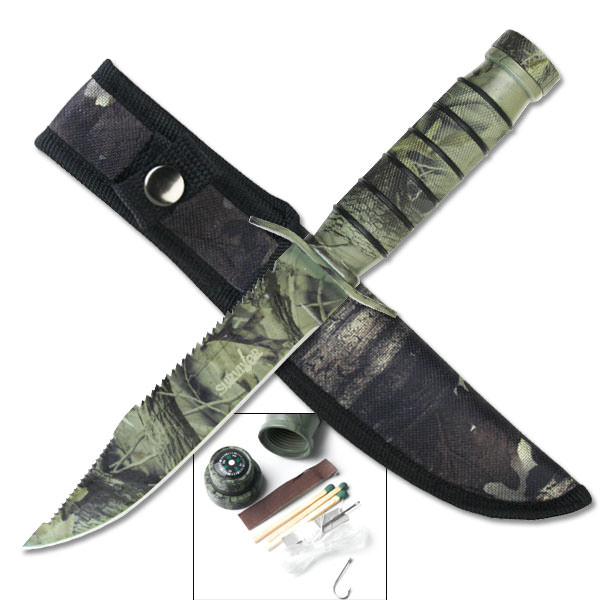 Camo Hunting / Survival Knife HK695C