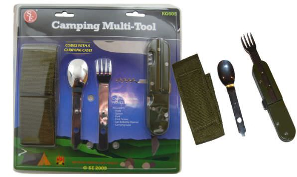 Camping Knife Mess Kit & Case KG605