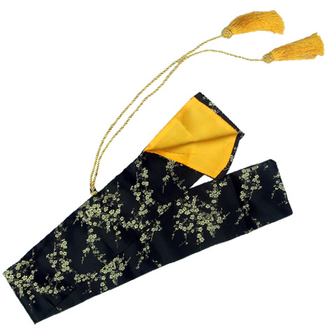 Silk Black & Gold Handmade Sword Bag 51 1/2""