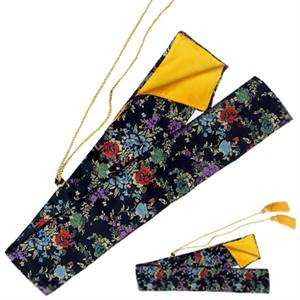 Silk Multi Color Flower Sword Bag 51 1/2""