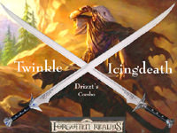 "Drizzt Do'Urden - Icingdeath & Twinkle Scimitar 38"" Combo"