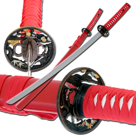 Exclusive Red Katana Sword