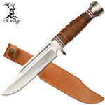 Leather Wrapped Handle Dagger with Sheath 12""