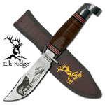 Elk Ridge Laser Wolf Knife with Sheath 8 1/2""