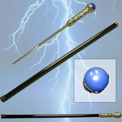 Blue Ball Cane Sword 35&quot;