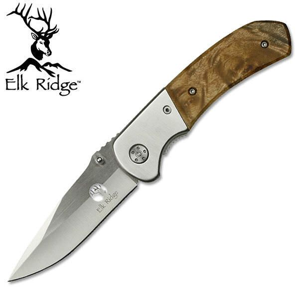 Elk Ridge Burl Maple handles ER097