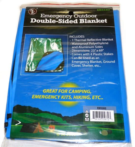 Emergency Outdoor Double Sided Blanket / Tent EB5182