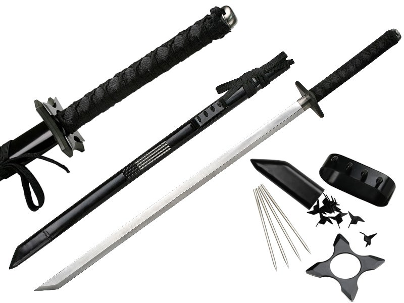 Ninja Katana with Hidden Claw & Spikes 38""