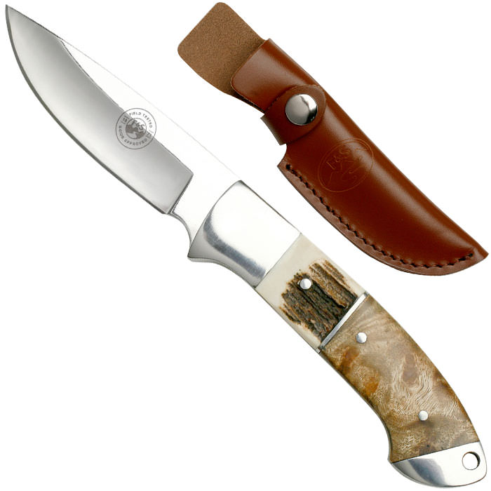 Field & Stream 8 Inch Fixed Blade Knife with Leather Sheath