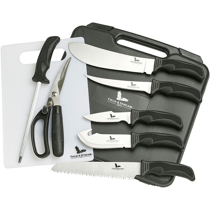 Field & Stream 9 Piece Big Game Knife Kit - Rust Resistant