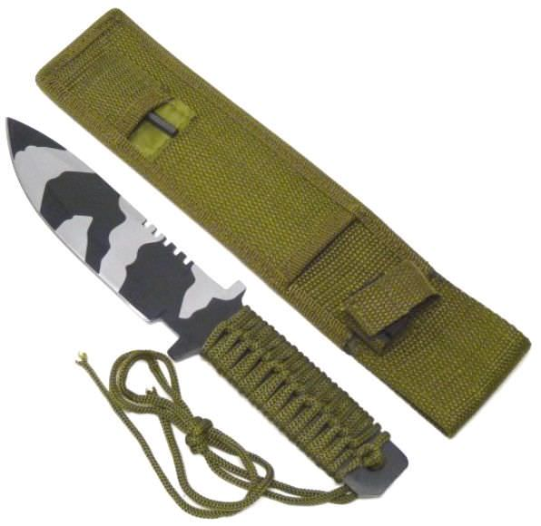 Full Tang Camo Survival Knife & Fire Starter HK1033CA