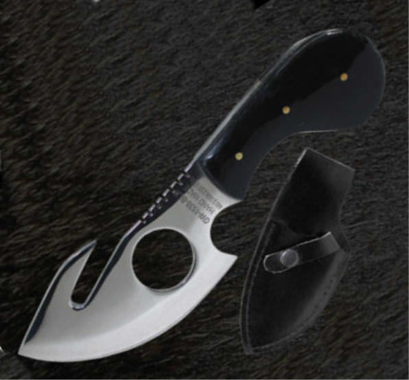 Full Tang Skinning Guthook Knife GW1538BLK