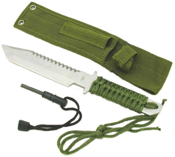 Full Tang Survival Knife & Fire Starter HK106280