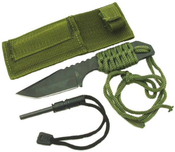 Full Tang Survival Knife & Fire Starter HK106320